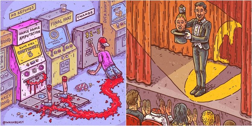 Ilustraciones de Tommy Washbush para entender el absurdo mundo en el que vivimos 1