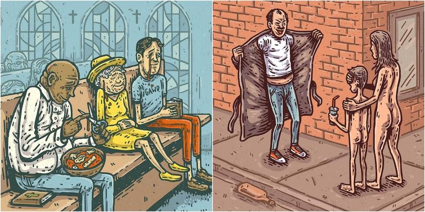 Ilustraciones de Tommy Washbush para entender el absurdo mundo en el que vivimos 4