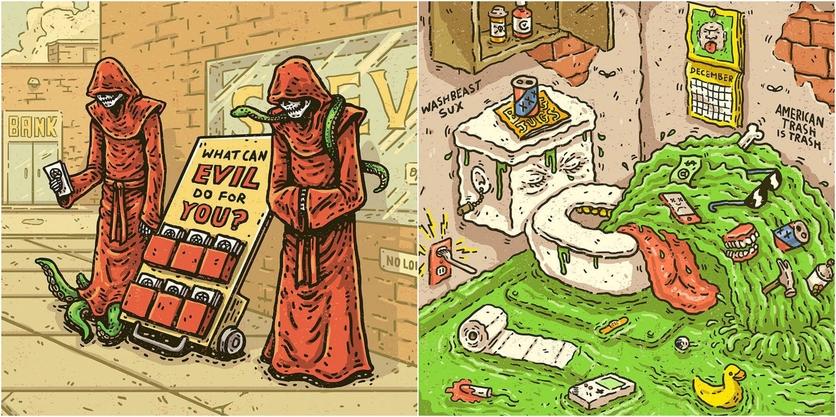 Ilustraciones de Tommy Washbush para entender el absurdo mundo en el que vivimos 5