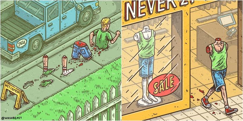 Ilustraciones de Tommy Washbush para entender el absurdo mundo en el que vivimos 6