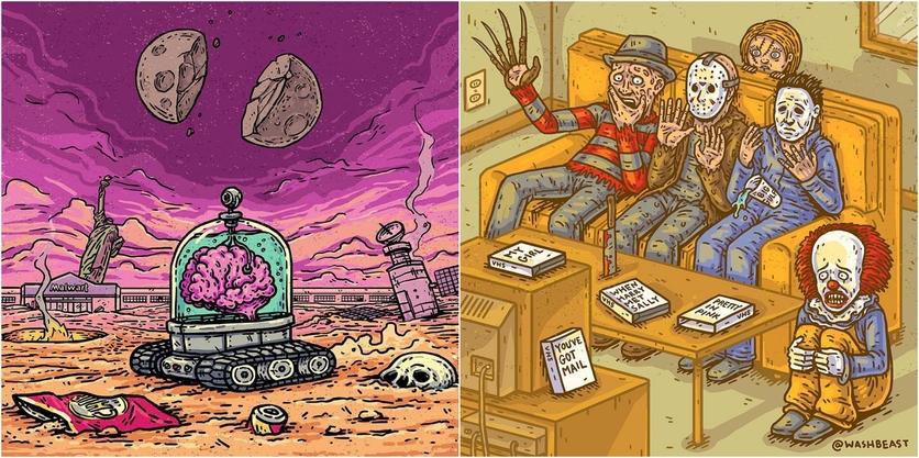 Ilustraciones de Tommy Washbush para entender el absurdo mundo en el que vivimos 7