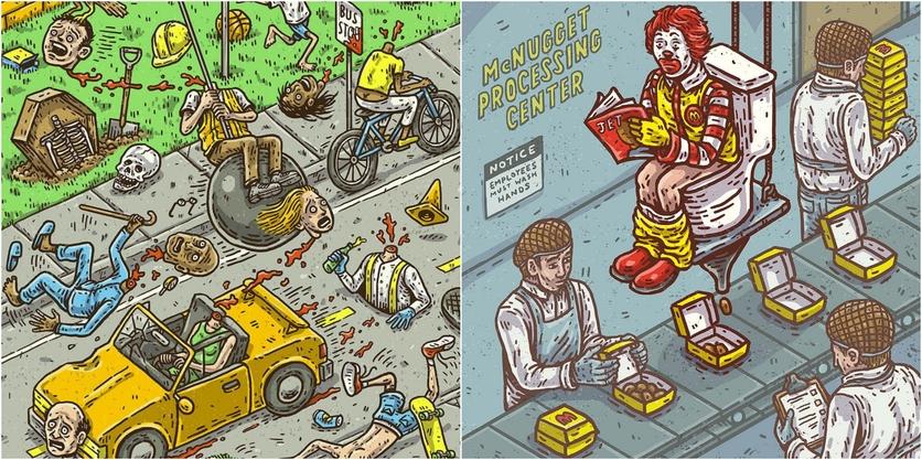 Ilustraciones de Tommy Washbush para entender el absurdo mundo en el que vivimos 8