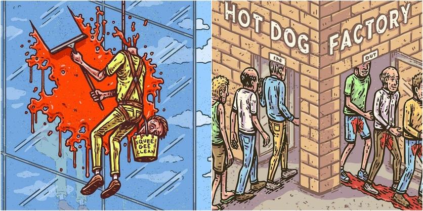 Ilustraciones de Tommy Washbush para entender el absurdo mundo en el que vivimos 3