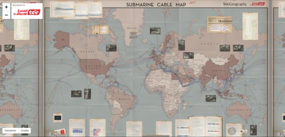 impresionante mapa de cables submarinos de internet 2