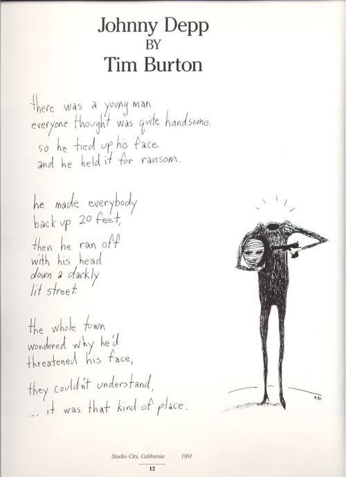 poema de tim burton a johnny depp 4