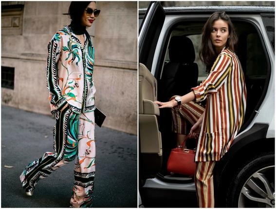 pajamas outfits as street style 2