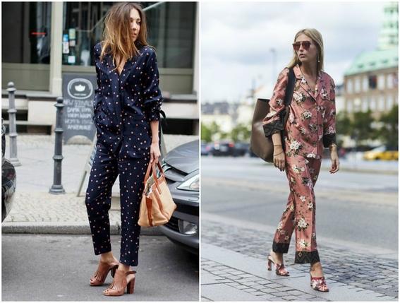 pajamas outfits as street style 3