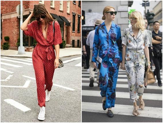 pajamas outfits as street style 4
