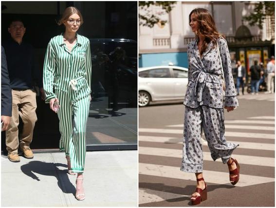 pajamas outfits as street style 7