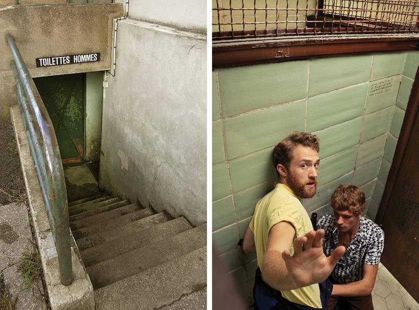 Encuentros sexuales en un baño público en 13 fotografías 2