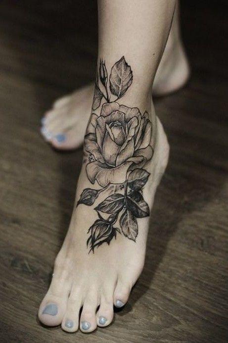 tatuajes de flores en los pies 1