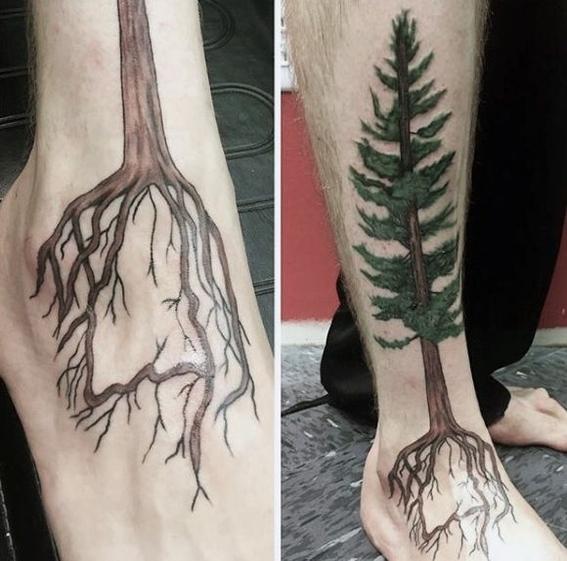 tatuajes de flores en los pies 2