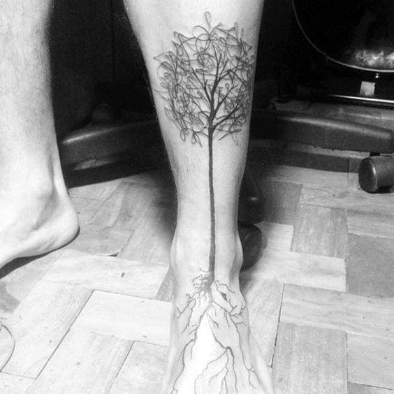 tatuajes de flores en los pies 7