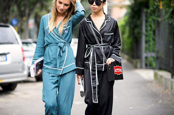 pajamas outfits as street style 1