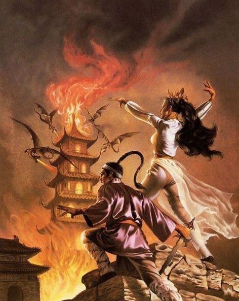 ilustraciones de guerreras y mujeres fatales 1