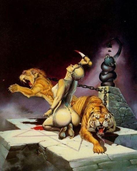 ilustraciones de guerreras y mujeres fatales 3