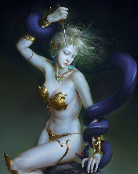 ilustraciones de guerreras y mujeres fatales 8