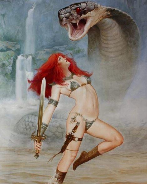 ilustraciones de guerreras y mujeres fatales 11