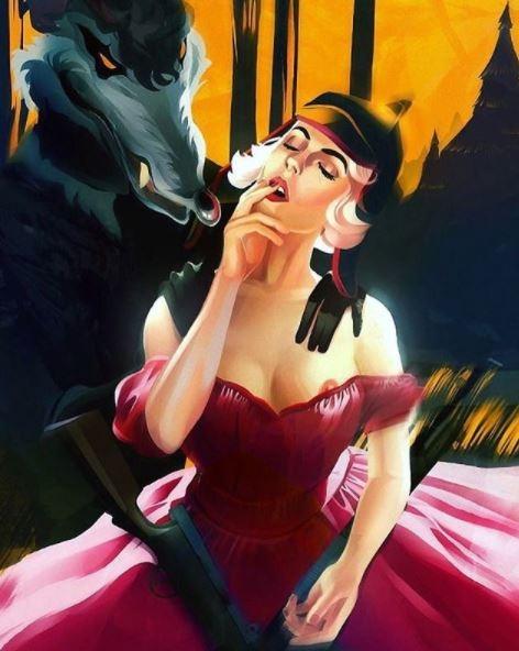 ilustraciones de guerreras y mujeres fatales 12