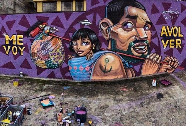 Los murales urbanos de Apitatán que nos muestran nuestros verdaderos orígenes 1