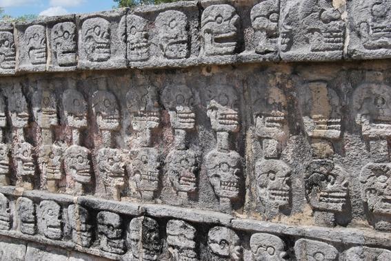 tzompantli tower of human skulls in mexico 2