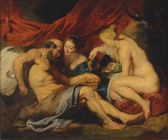 pinturas sobre violacion e incesto las hijas de lot 7