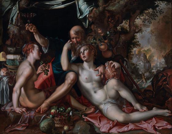 pinturas sobre violacion e incesto las hijas de lot 2