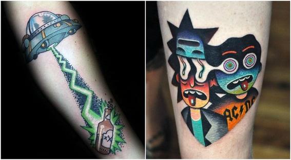 tatuajes que todo fan de rick and morty 4