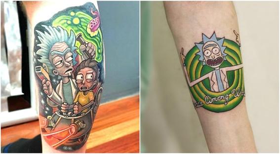 tatuajes que todo fan de rick and morty 12