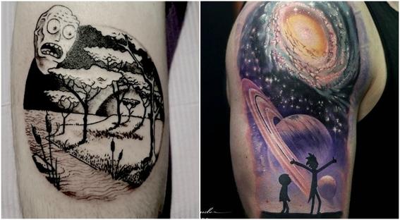 tatuajes que todo fan de rick and morty 13