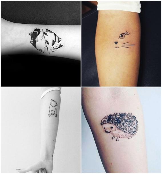 tatuajes de mascotas minimalistas 4