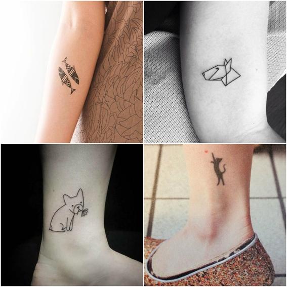 tatuajes de mascotas minimalistas 3