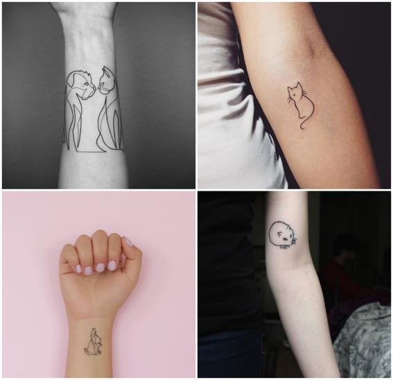 tatuajes de mascotas minimalistas 2