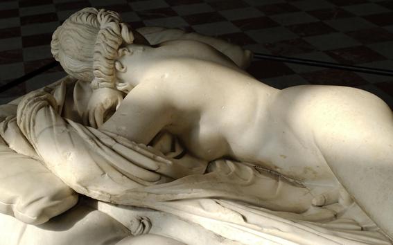 sleeping hermaphrodite sculpture ancient rome 1