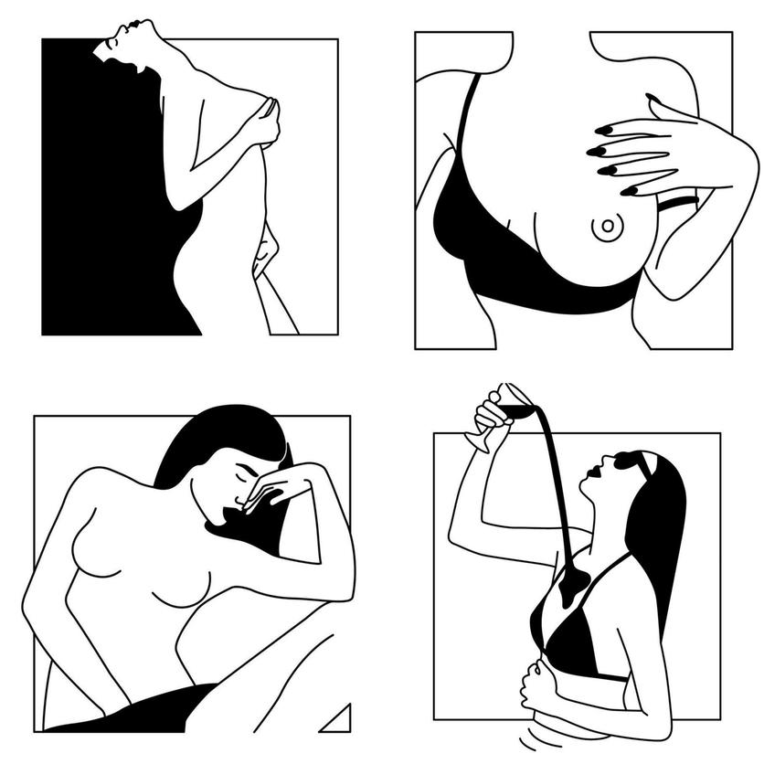 Ilustraciones de Minimal Favors para mujeres que no temen vivir el placer 3