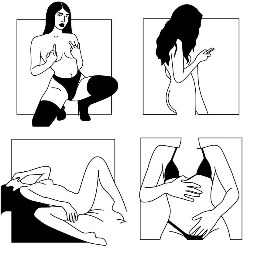 Ilustraciones de Minimal Favors para mujeres que no temen vivir el placer 5