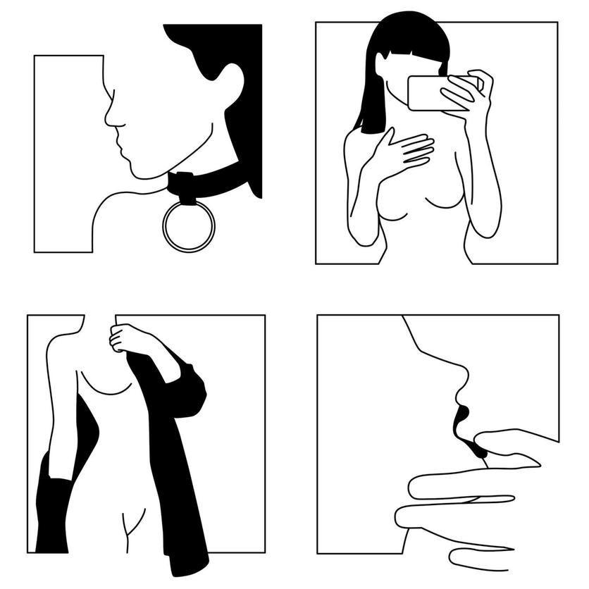 Ilustraciones de Minimal Favors para mujeres que no temen vivir el placer 8