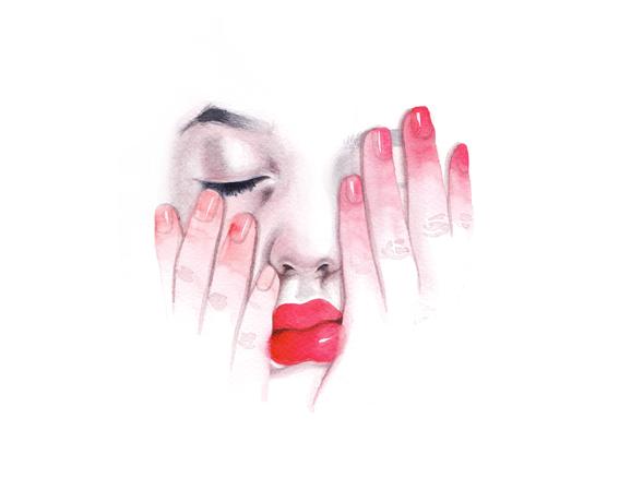 ilustraciones sobre rostros de mujer de monica loya 9