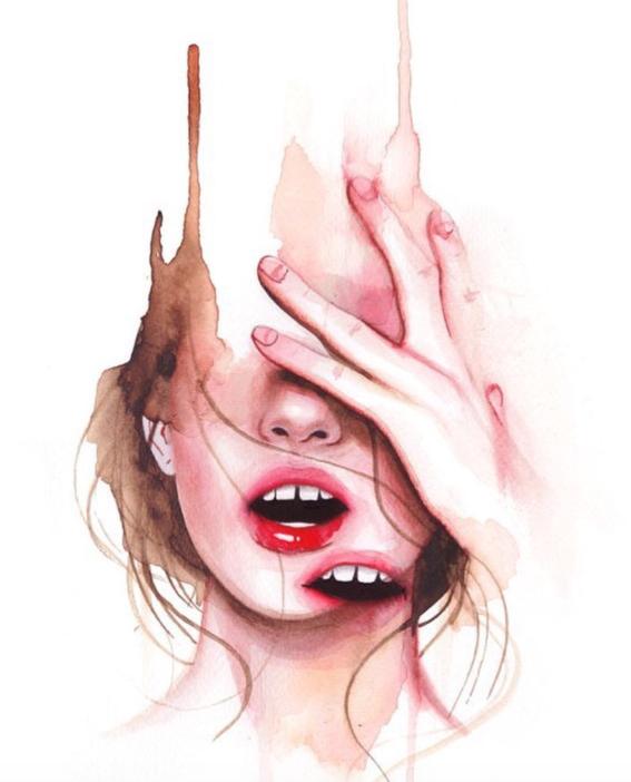 ilustraciones sobre rostros de mujer de monica loya 10