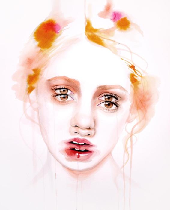 ilustraciones sobre rostros de mujer de monica loya 12