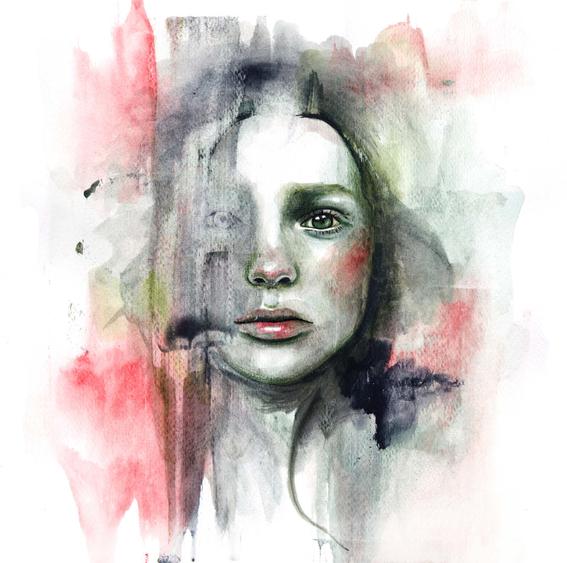 ilustraciones sobre rostros de mujer de monica loya 15