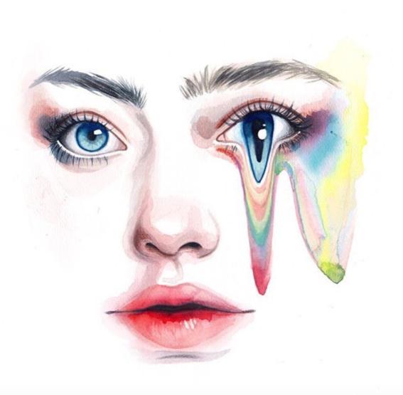 ilustraciones sobre rostros de mujer de monica loya 17