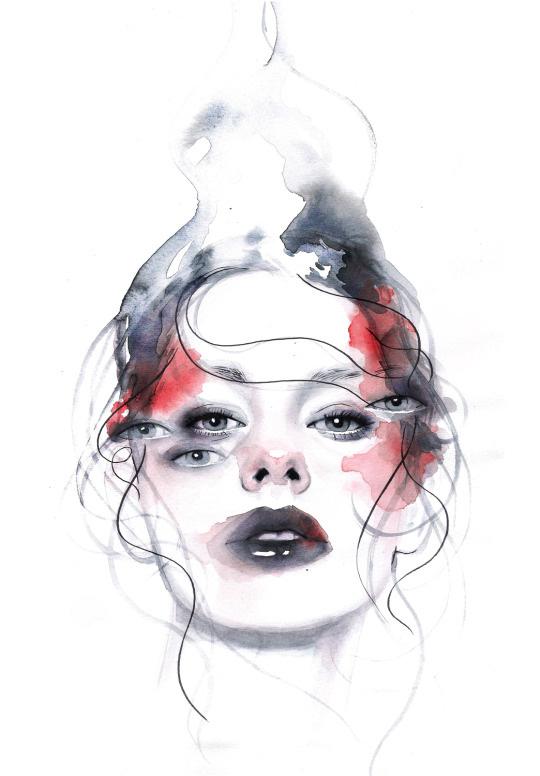 ilustraciones sobre rostros de mujer de monica loya 20