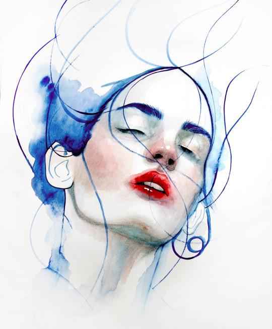 ilustraciones sobre rostros de mujer de monica loya 23