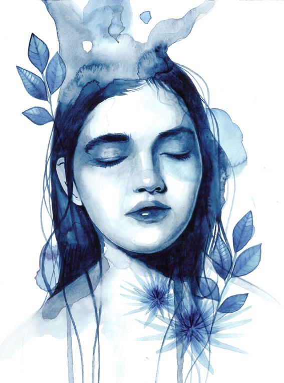 ilustraciones sobre rostros de mujer de monica loya 24
