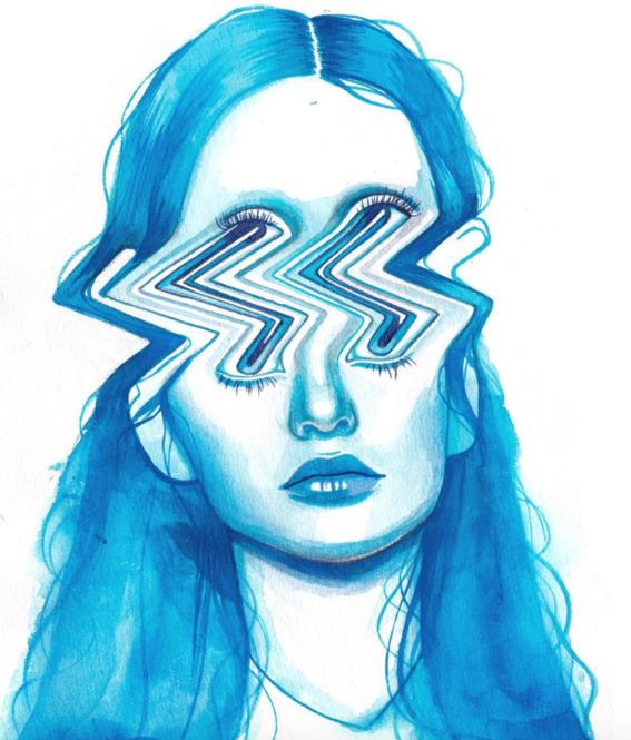ilustraciones sobre rostros de mujer de monica loya 25