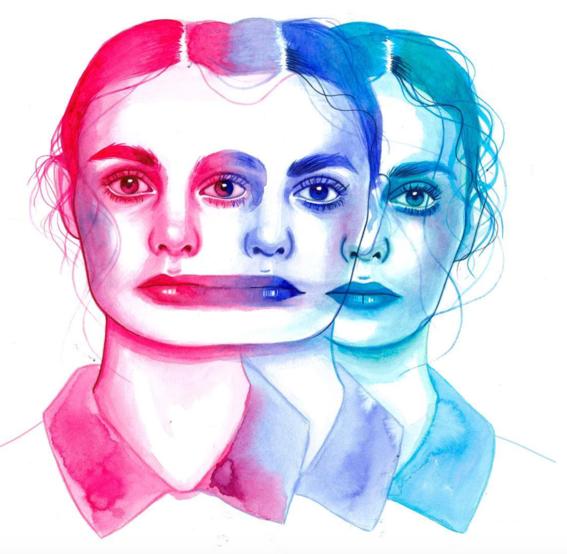 ilustraciones sobre rostros de mujer de monica loya 28