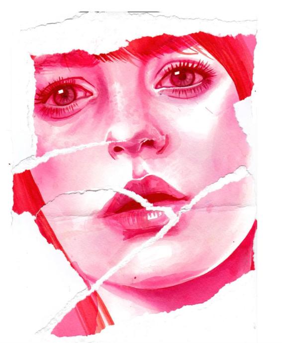 ilustraciones sobre rostros de mujer de monica loya 30