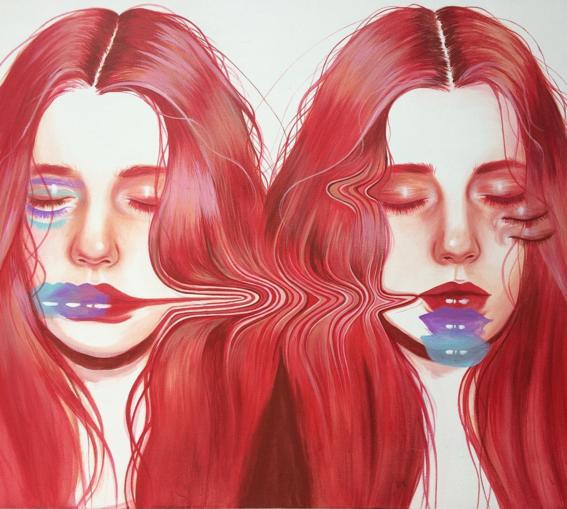 ilustraciones sobre rostros de mujer de monica loya 32