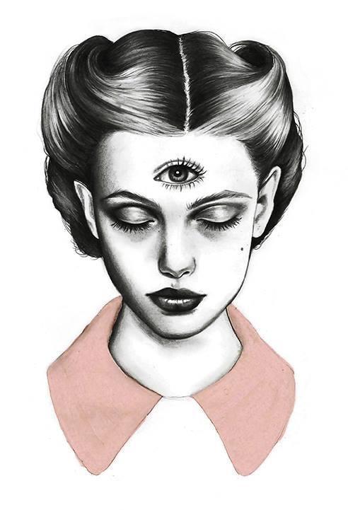 ilustraciones sobre rostros de mujer de monica loya 3